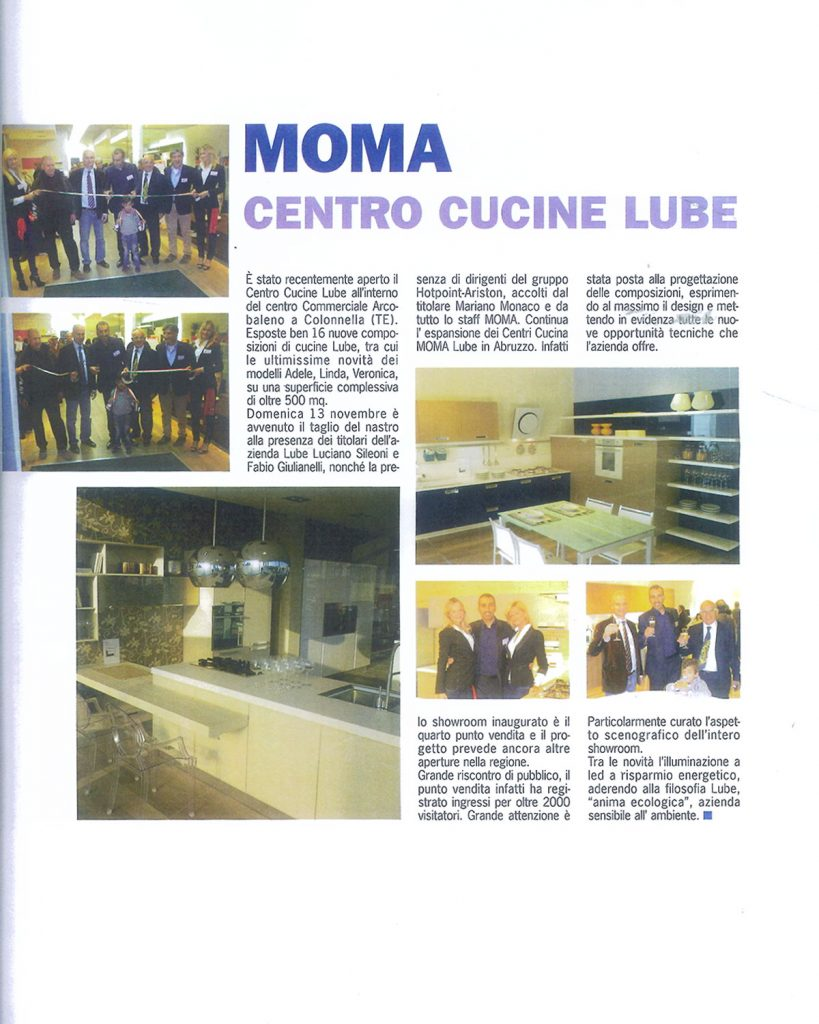 Moma centro cucine lube mariano monaco group - Centro cucine lube ...